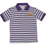 Two Feet Ahead Toddlers' Louisiana State University Stripe Golf Polo Shirt