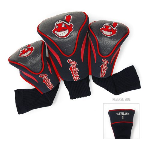 Team Golf Cleveland Indians Contour Sock Head Covers 3-Pack