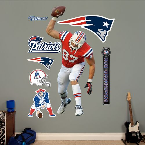 Fathead New England Patriots Rob Gronkowski Spike Real