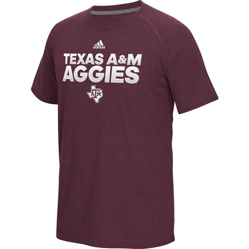 adidas™ Men's Texas A&M University Sideline Hustle Ultimate T-shirt