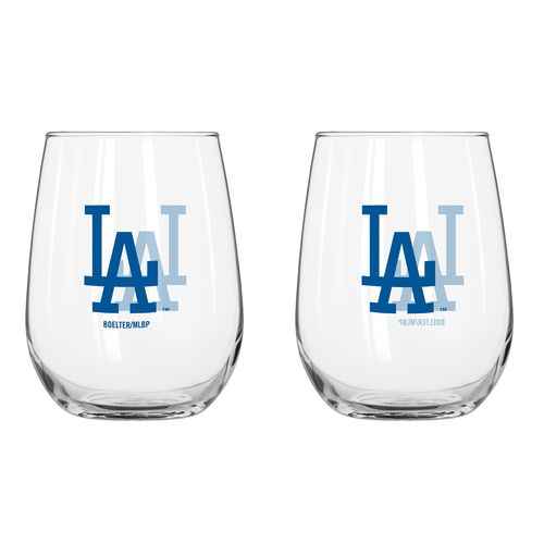 Boelter Brands Los Angeles Dodgers 16 oz. Curved Beverage Glasses 2-Pack