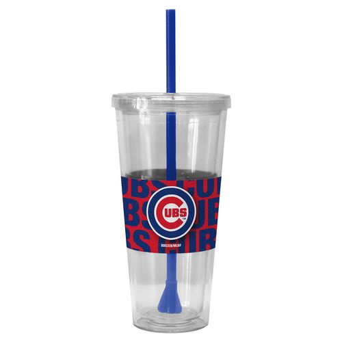 Boelter Brands Chicago Cubs Bold Neo Sleeve 22 oz. Straw Tumblers 2-Pack