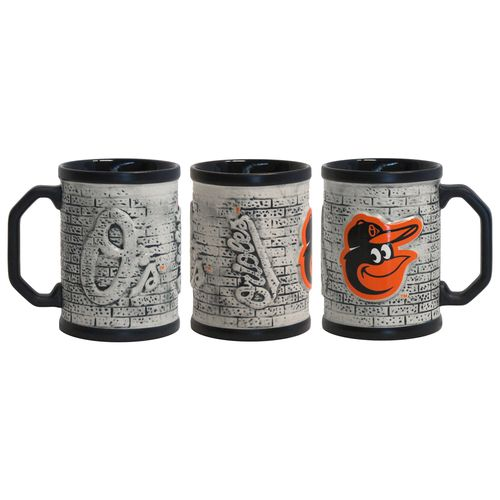 Boelter Brands Baltimore Orioles Stone Wall 15 oz. Coffee Mugs 2-Pack
