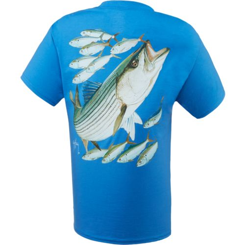 Guy Harvey Men's Striped Bass T-shirt