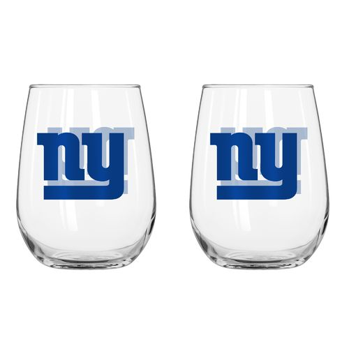 Boelter Brands New York Giants 16 oz. Curved Beverage Glasses 2-Pack