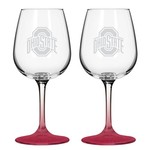 Boelter Brands Ohio State University 12 oz. Wine Glasses 2-Pack - view number 1