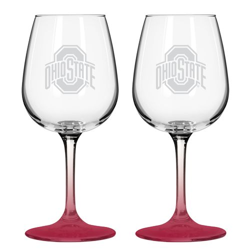 Boelter Brands Ohio State University 12 oz. Wine Glasses 2-Pack