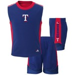 Majestic Toddlers' Texas Rangers Slide Home Shirt and Short Set