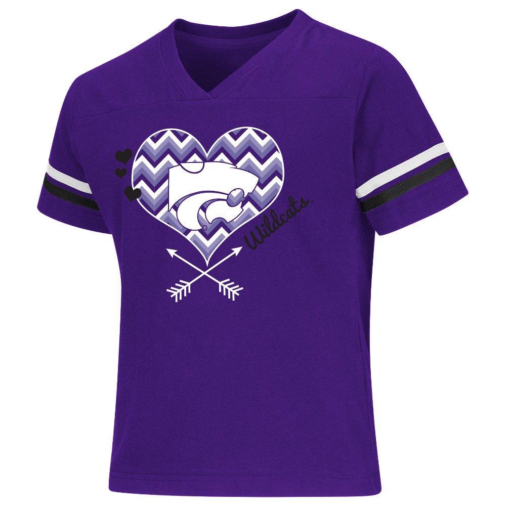 Colosseum Athletics Girls' Kansas State University Football Fan T-shirt