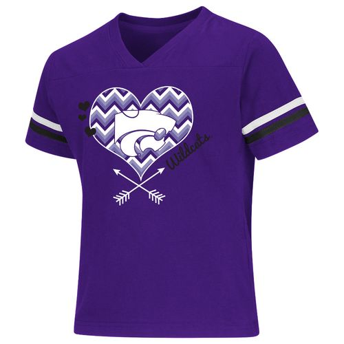 Colosseum Athletics Girls' Kansas State University Football Fan T-shirt