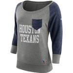Nike Women's Houston Texans Tailgate Vintage Crew Shirt
