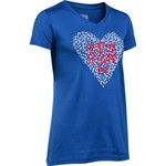 Under Armour™ Girls' USA Heart V-neck Short Sleeve T-shirt