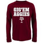 adidas™ Kids' Texas A&M University Fine Line Clima T-shirt