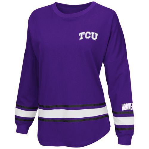 Colosseum Athletics™ Women's Texas Christian University All Around Oversize Long Sleeve T-s