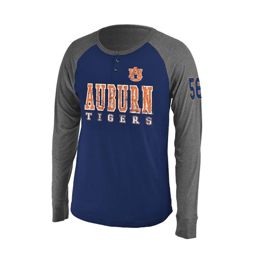 Colosseum Athletics Men's Auburn University Spotter Long Sleeve Henley Shirt