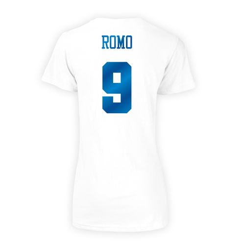 Dallas Cowboys Women's Tony Romo #9 Shimmer T-shirt