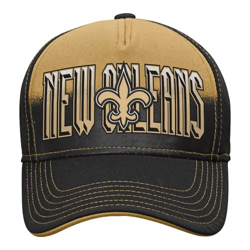 NFL Boys' New Orleans Saints DNA Helix Flex Cap