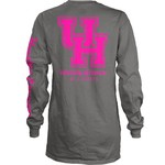 Three Squared Juniors' University of Houston Cynthia Pocketed Long Sleeve T-shirt