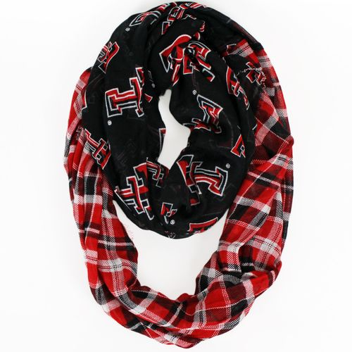 ZooZatz Women's Texas Tech University Tartan Infinity Scarf
