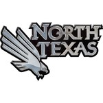 Stockdale University of North Texas Chrome Freeform Auto Emblem