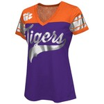 G-III for Her Women's Clemson University Pass Rush Fashion Top