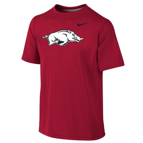 Nike Boys' University of Arkansas Dri-FIT Legend Short Sleeve T-shirt