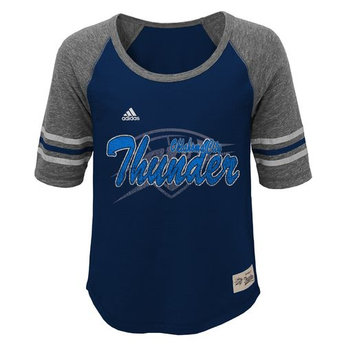 adidas Girls' Oklahoma City Thunder Hi-Lo T-shirt