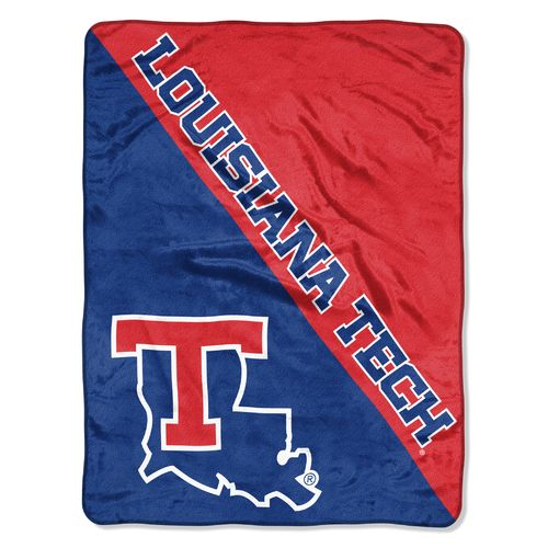 The Northwest Company Louisiana Tech University Halftone Micro Raschel Throw