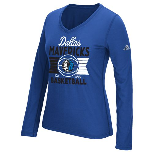adidas™ Women's Dallas Mavericks Long Sleeve Ultimate T-shirt