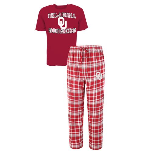 Concepts Sport™ Men's University of Oklahoma Tiebreaker Shirt and Pant Set