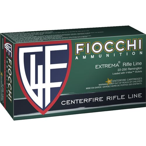 Display product reviews for Fiocchi .22 - 250 Remington 55-Grain V-Max Centerfire Rifle Ammunition