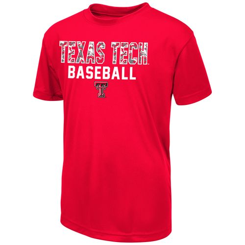 Colosseum Athletics Boys' Texas Tech University Digi Camo Baseball T-shirt