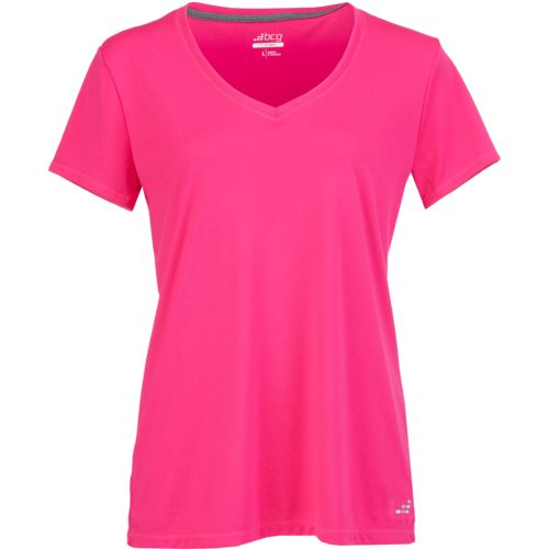 Display product reviews for BCG Women's Training Solid Short Sleeve V-neck Tech T-shirt