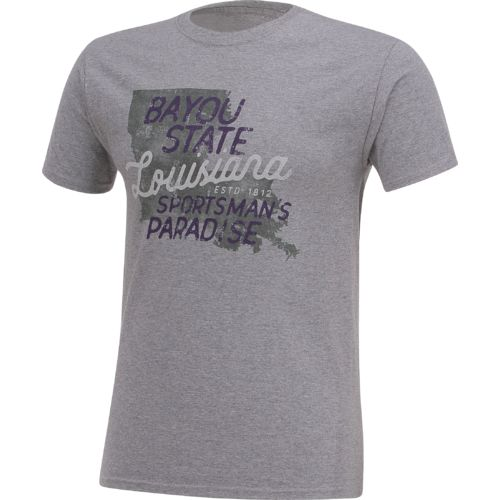 Academy Sports + Outdoors Men's Louisiana Bayou Sportsman T-shirt - view number 3
