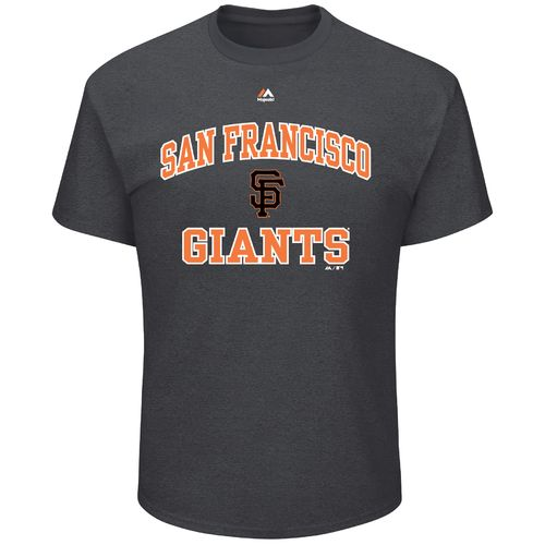 Majestic Men's San Francisco Giants Heart and Soul III Basic Short Sleeve T-shirt - view number 1