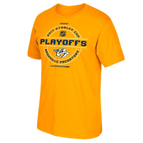 Reebok Men's Nashville Predators 2017 NHL Playoff Run Roster T-shirt