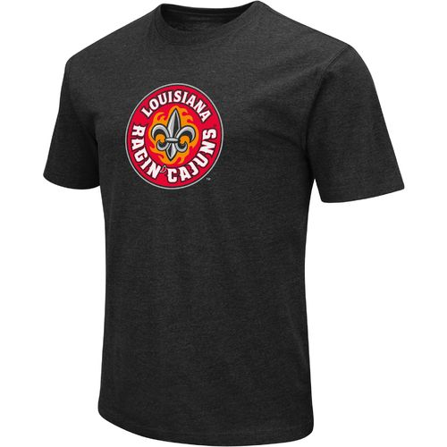 Colosseum Athletics Men's University of Louisiana at Lafayette Logo Short Sleeve T-shirt