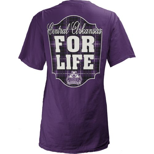 Three Squared Juniors' University of Central Arkansas Team For Life Short Sleeve V-neck T-shirt