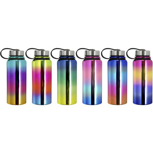 Wellness 30 oz Double Wall Insulated Wide Mouth Flask Bottle