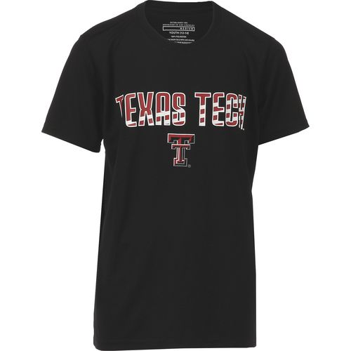 Colosseum Athletics Boys' Texas Tech University Team Stripe T-shirt