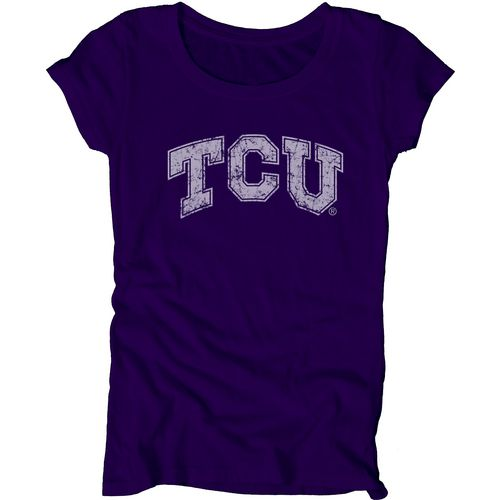 Blue 84 Juniors' Texas Christian University Mascot Soft T-shirt