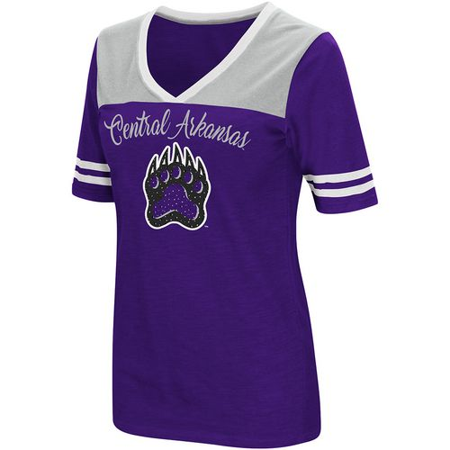 Colosseum Athletics Women's University of Central Arkansas Twist 2.1 V-Neck T-shirt