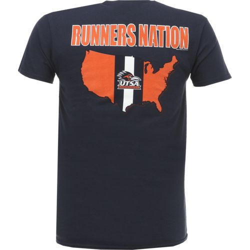 New World Graphics Men's University of Texas at San Antonio Stripe Nation T-shirt