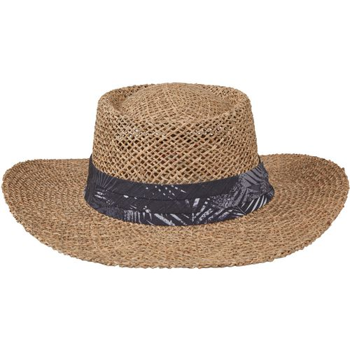 O'Rageous Men's Seagrass Gambler Hat with Palm Print Band