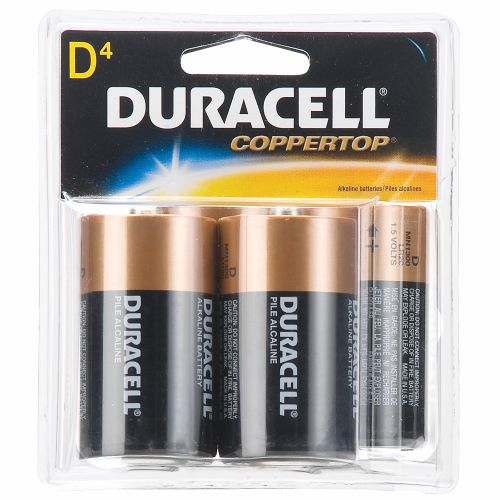 Duracell CopperTop D Alkaline Batteries 4-Pack - view number 1