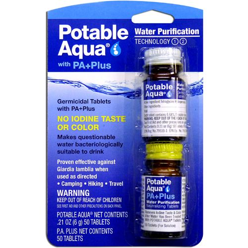 Potable Aqua® Water Purification Tablets with PA Plus