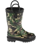Stone Creek™ Boys' Camo Crossbones Rubber Boots