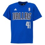 adidas Kids' Dallas Mavericks Dirk Nowitzki Graphic T-shirt