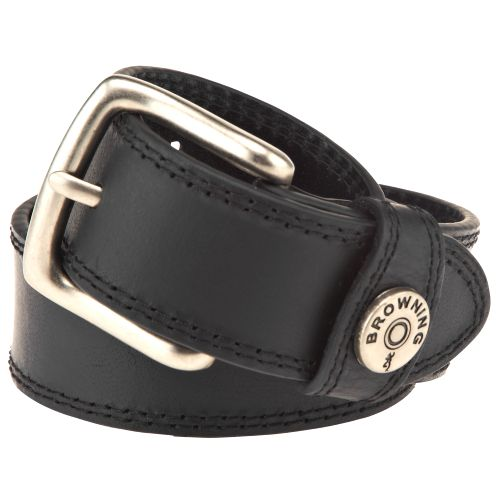 Image for Browning Men's Shotgun Shell Ornament Stitched Leather Belt from Academy