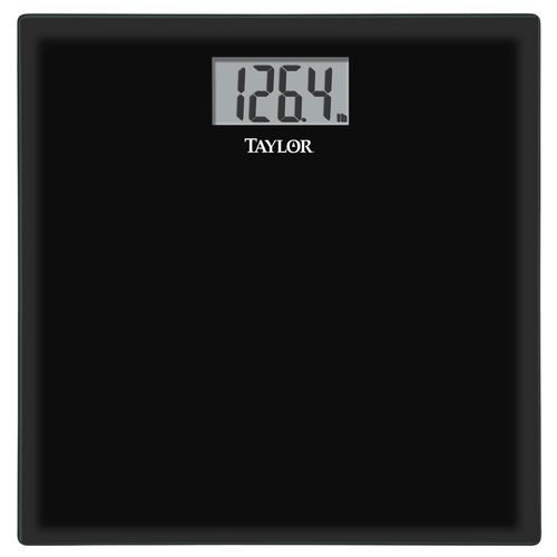 Taylor Black Glass Digital Bath Scale